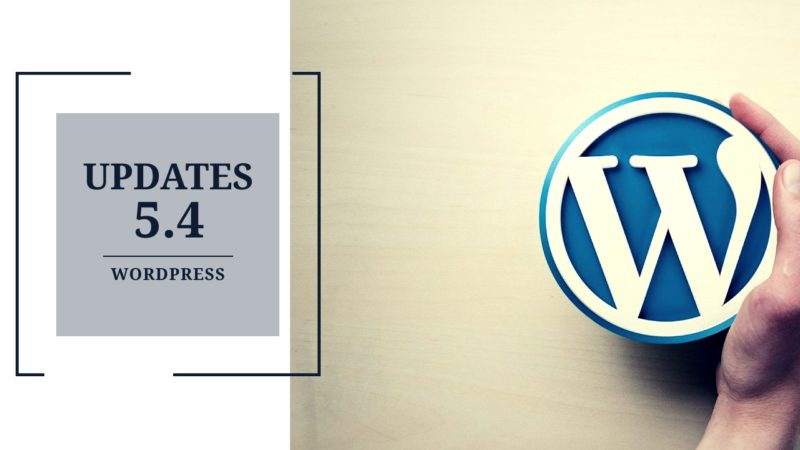 wordpress 5.4 updates